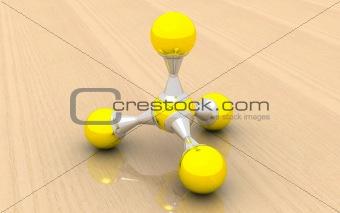 molecule of methane