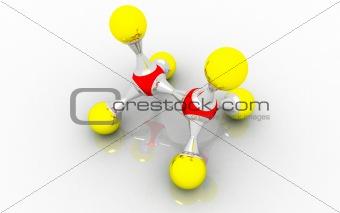molecular model of ethane