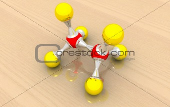 molecular model of ethane