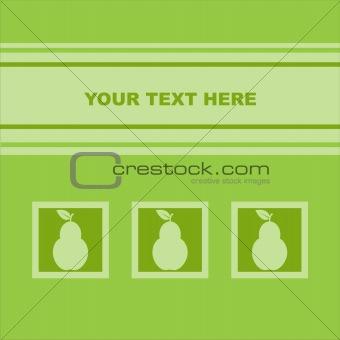 green pear card