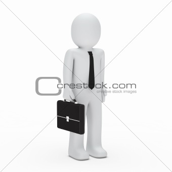 3d business man standing