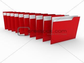 3d folder red