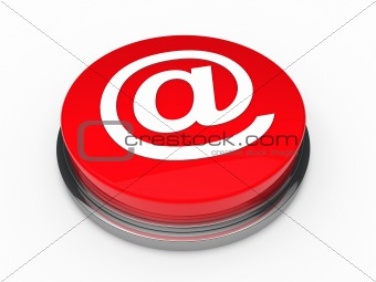 3d button email red