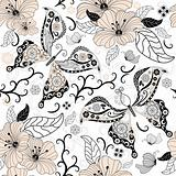 Gentle repeating floral pattern
