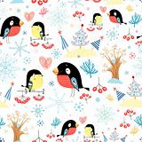 pattern titmouse and bullfinch