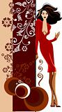Beauty girl with abstract vector elements
