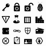 Security and safety icon set