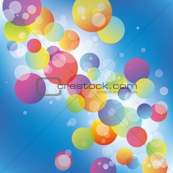 Abstract colorful circle on blue background