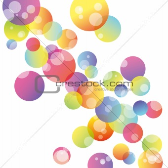 Abstract colorful circle on white background