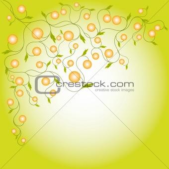 Abstract springtime flora frame