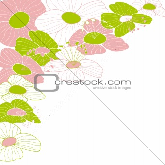 Abstract colorful flower frame