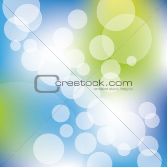 Abstract white circle on blue green background