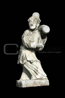 Ancient Chinese people statue