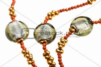 fragment of glass bead