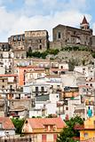 dense houses in ancient sicilian mountain town