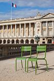 Parisian metallic chairs.