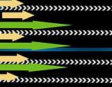 lots of arrows vector illustration