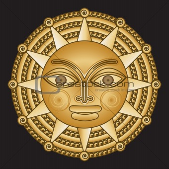 ancient gold medallion solar
