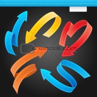 Colorful Arrows Set on black