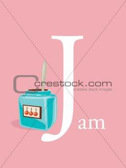 Colorful abc, letter J