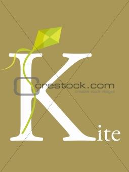 Colorful abc, letter K