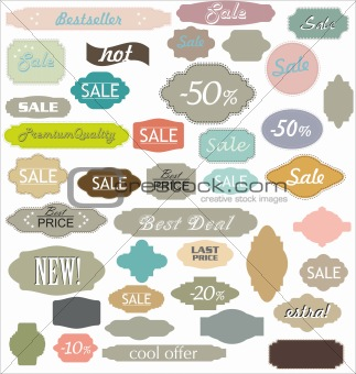 Vintage Sale Labels