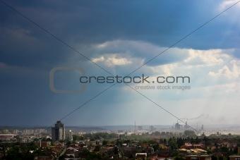 Tirgu-Mures smog view