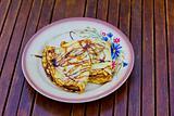 pancake dessert plate