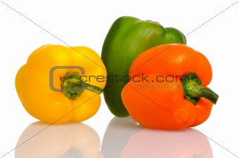 Three fresh peppers
