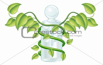 Natural caduceus bottle concept