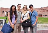 Fellow students posing