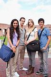 Portrait of fellow students posing