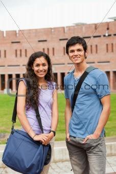 Portrait of classmates posing