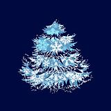 Christmas tree made of snowflakes