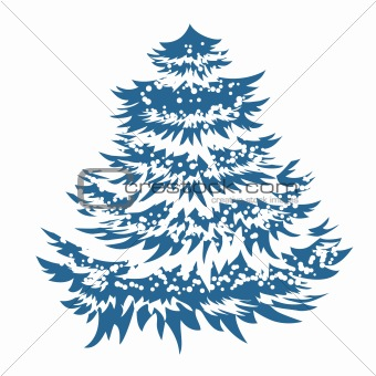 Simple blue Christmas tree