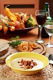 Cream of chanterelle mushroom soup