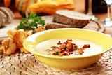 Cream of chanterelle mushroom soup