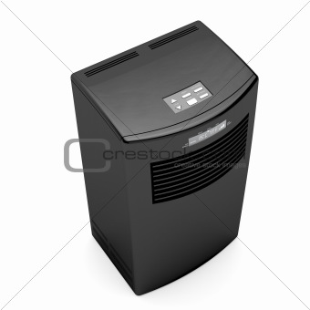 Black mobile air conditioner