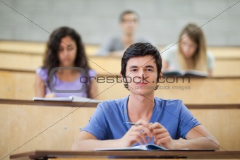 Focused students during a lecture