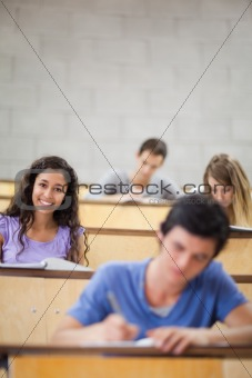 Portrait of students during a lecture