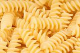 Fusilli pasta background