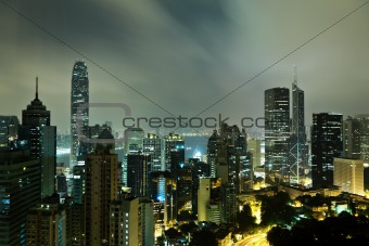 Hong Kong at mid night