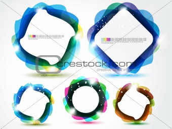 abstract rectangular banner