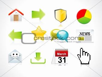 abstract web icon set