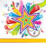 abstract colorful explode background with star