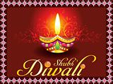 abstract shubh diwali concept