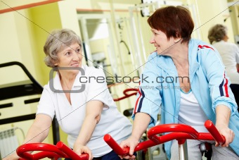 Active senior friends