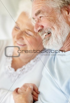 Senior man with a mature female spending time together