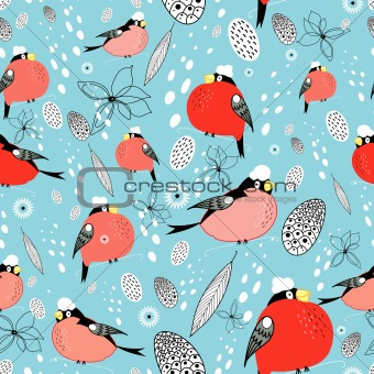 texture of bullfinches
