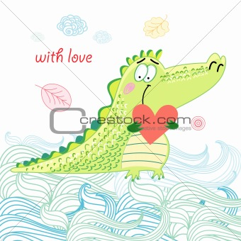 Crocodile in love